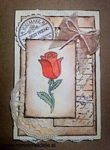 Vrtnica na voščilnici