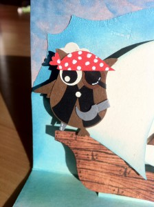 Stampin up! Owl-pirate card