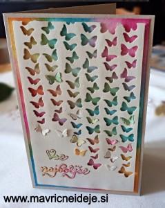 Voščilnica z metuljčki