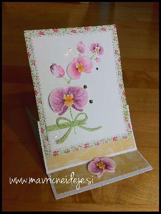 easel card orhideje