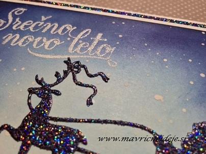 2015 novoletna voščilnica božiček na poti