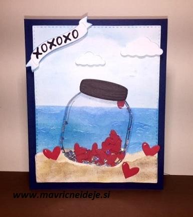 Valentin, ročno izdelana voščilnica