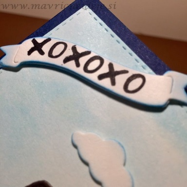 XOXO voščilnica  za Valentinovo