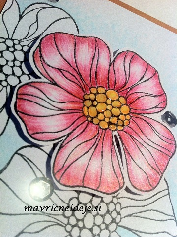voščilnica cvet in Glossy accent