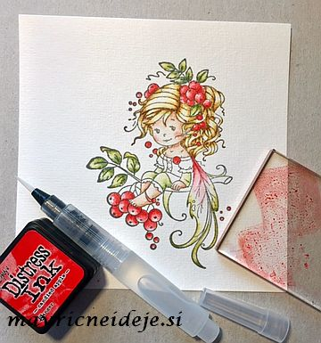 Distress ink Candied apple