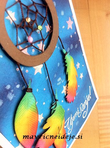 Dream catcher rainbow card