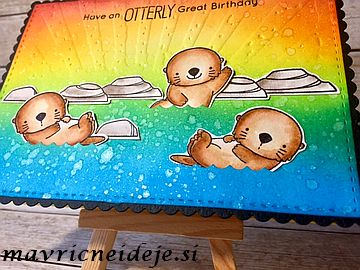MFT Otterly Love You rainbow card