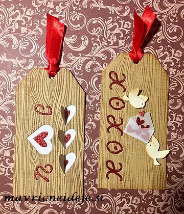 Tag za valentinovo s srčki