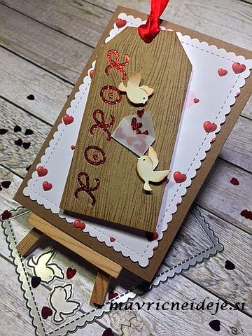 Voščilnica za valentinovo s srčki