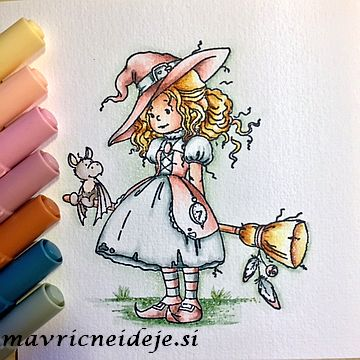 Wee stamp Hazel witch