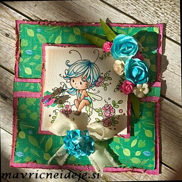 Whimsy Stamp Sweetie with blue hair
