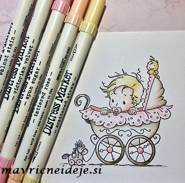 Whimsy; Wee One pink Distress markers