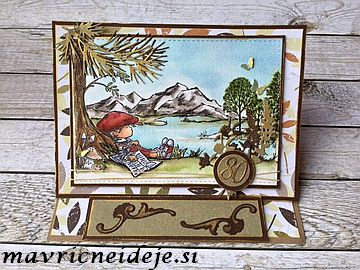 LOTV lazy afternoon handmade card