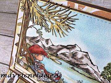 Masculine card LOTV nature