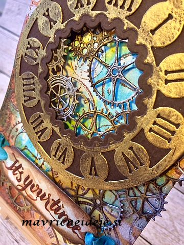 Masculine steampunk card