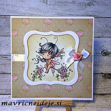 Wee sweetie watercolour handmade card
