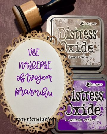 Distress oxide stamping