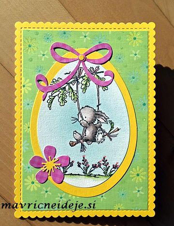Easter handmade card, LOTV Spring Swing