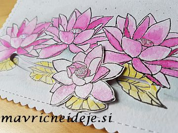 Altenev lotus watercolor slider card