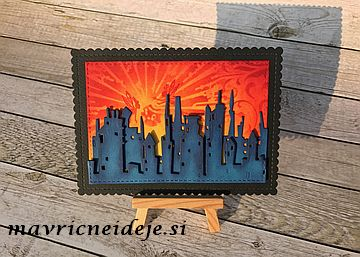 Cityscape Skyline Lavinia fairy stamp