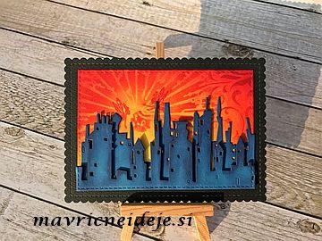 Lavinia stamp red sky fairy