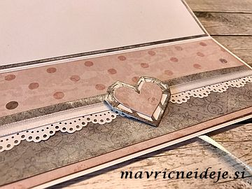 Poročna darilna kuverta, rezalna šablona Dragocena srca