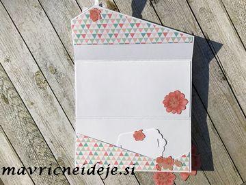 Darilna kuverta z žepkom za denarno darilo