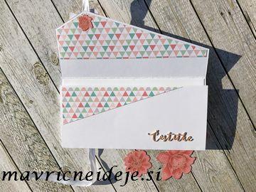 Enostavna kuverta za darilni bon