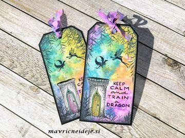 Lavinia stamp, Distress Oxide handmade tag