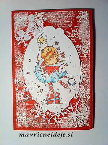 Red&white christmas card