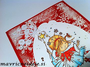 Winter fairy card handmade