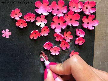 Oblikovanje cvetnih čašic