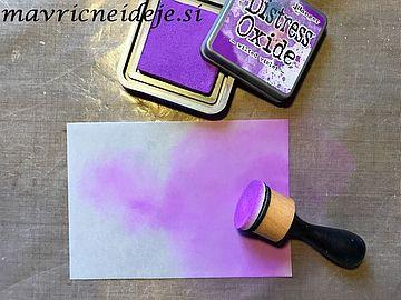 Barvanje paus papirja Vilted violet Distress Oxide