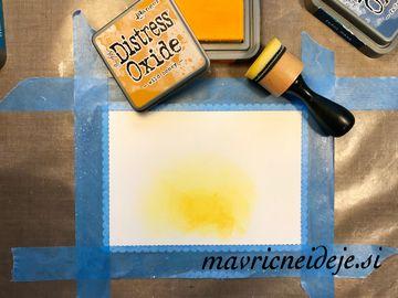 2 Distress oxide wild honey