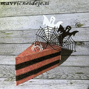 Cake slice box spider net
