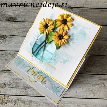 Easel sunflower card