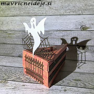 Haloween paper slice box