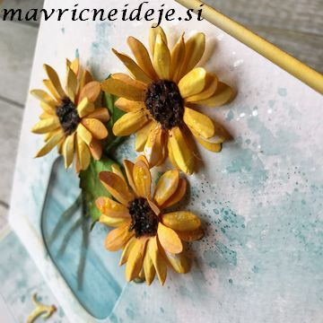 Handmade sunflower card
