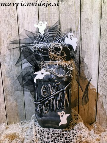 love potion haloween jar decoration