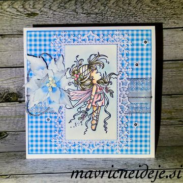 Wee Mistletoe fairy card