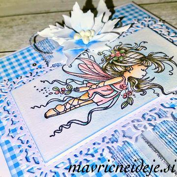 Winter Mistletoe fairy card