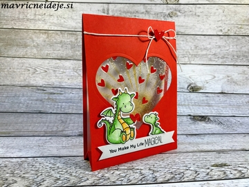 MFT Magical Dragon heart card