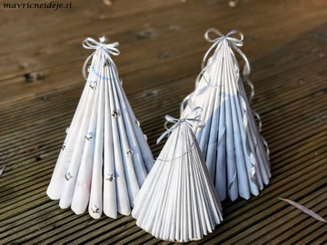 Paper magacine holiday decor
