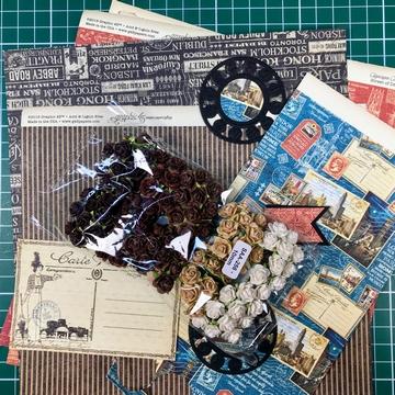 Graphic45 material za voščilnico