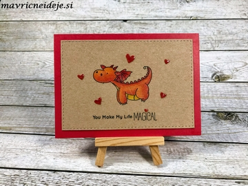 Valentines day MFT Dragon card