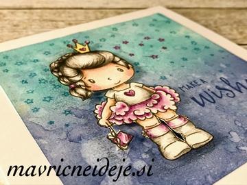 Voščilnica s princesko