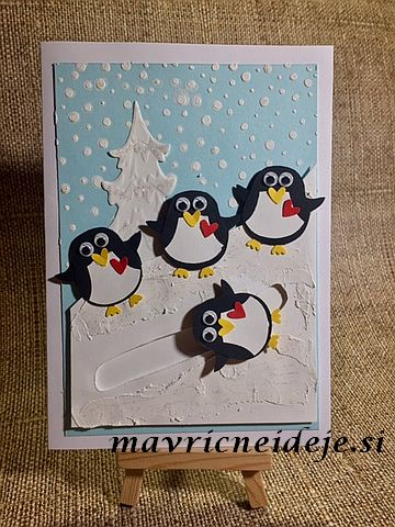 Stampin Up! Pinguin card
