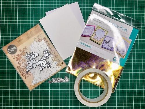 1 Gina K. Fancy Foils voščilnica