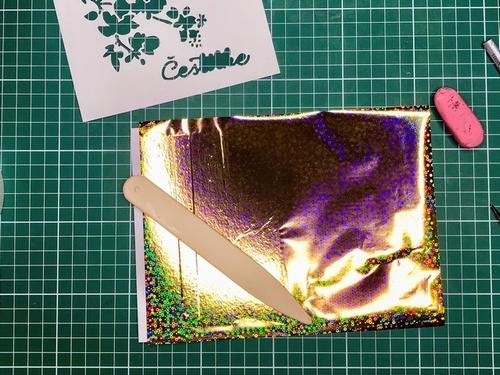 10 Gina K. Fancy Foils voščilnica