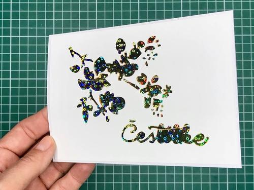 14 Gina K. Fancy Foils voščilnica